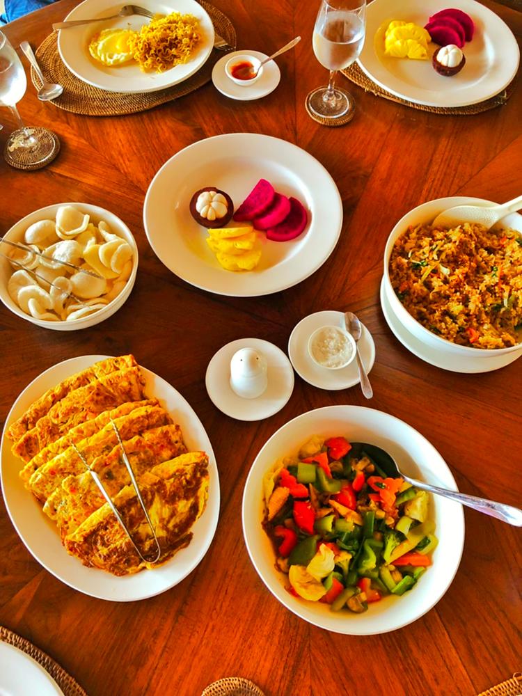 峇里島Villa絕色的早餐
