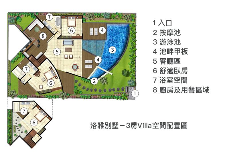 洛雅3房別墅 峇里島villa 水明漾