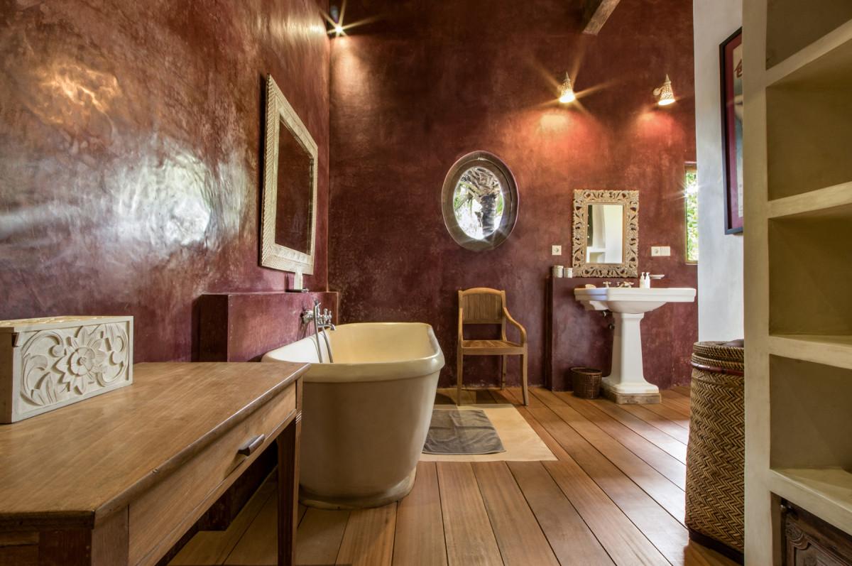 峇里島Villa內的摩洛哥浴室